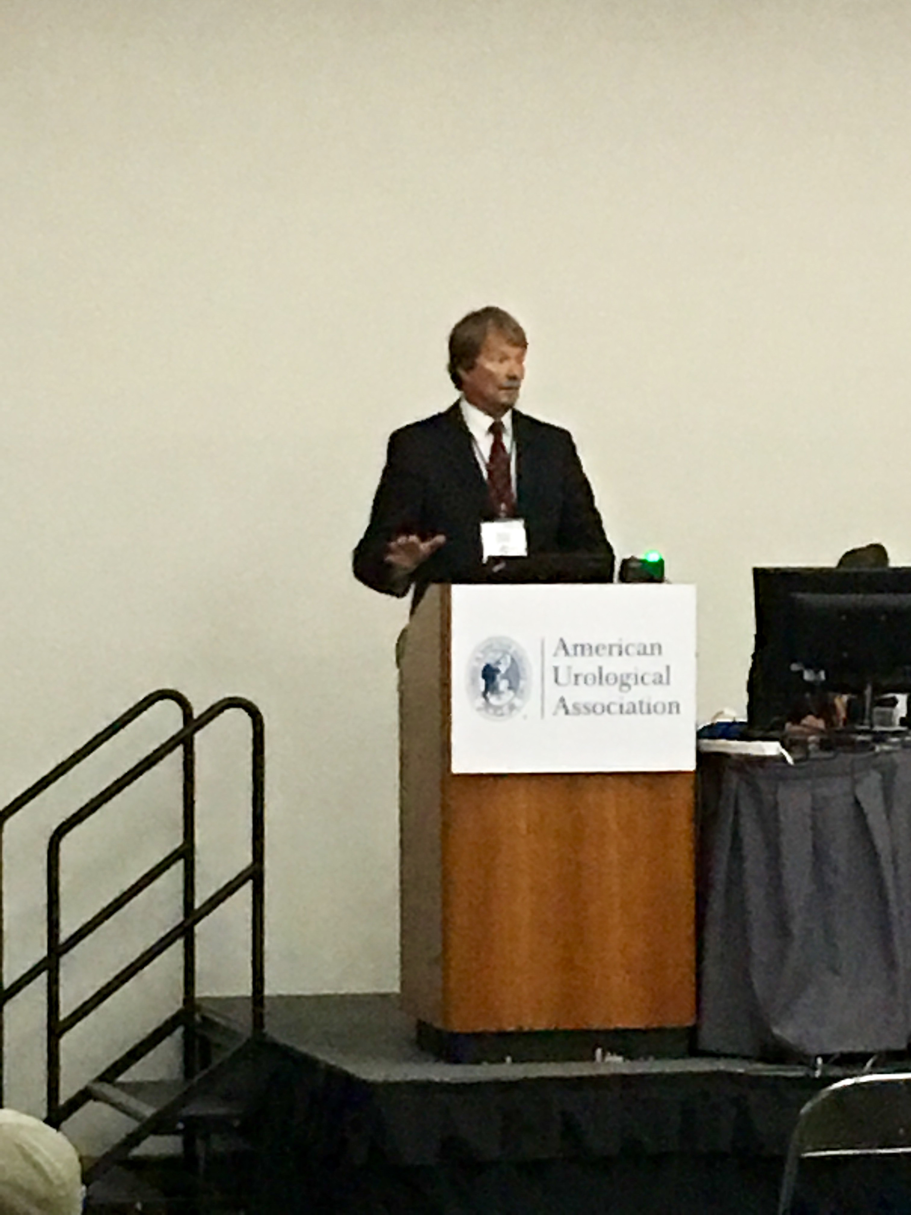 Dr Chris Payne at the 2016 AUA Conference in SD