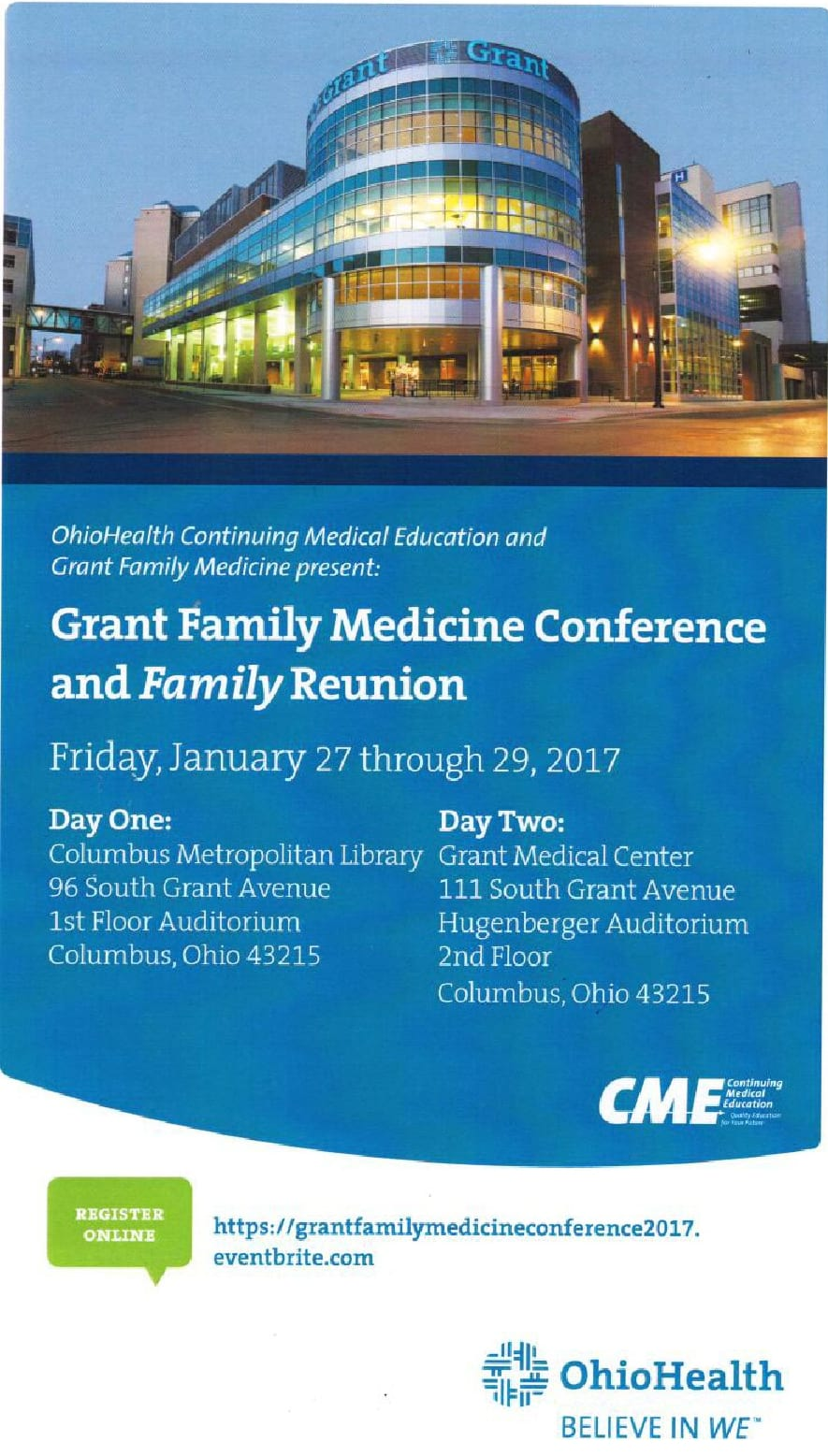 Grant Family Medicine Conference and Family Reunion