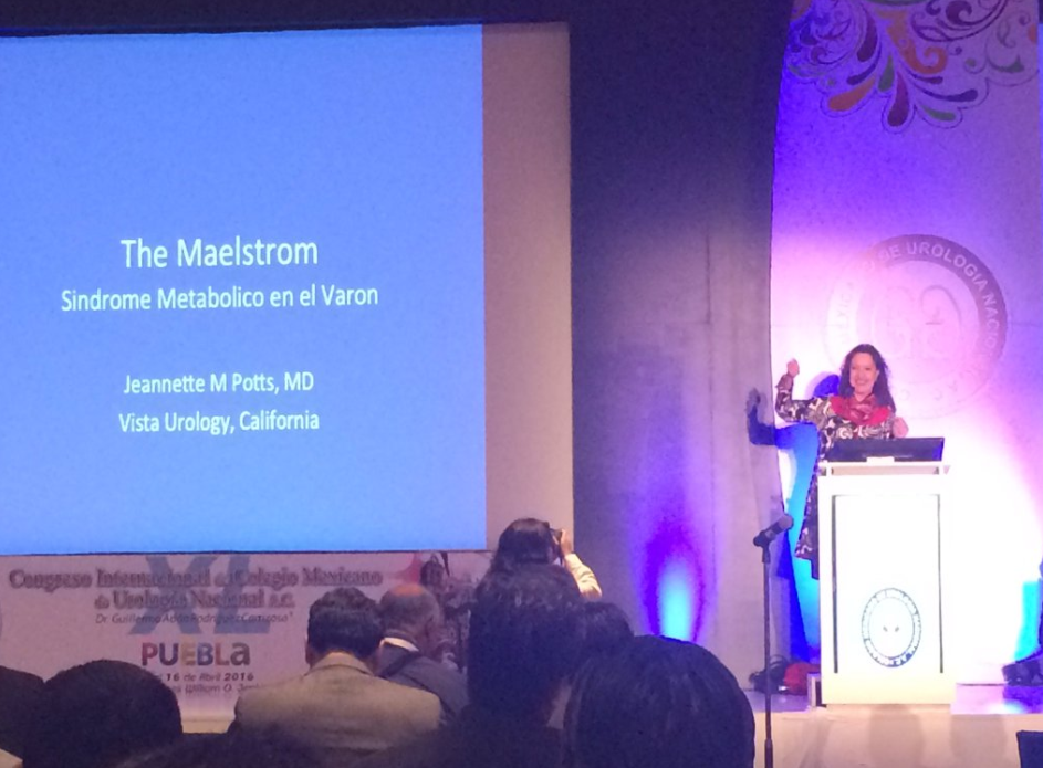 Dr Potts Lecturing on men's urological health titled Metabolic Syndrome, Maelstrom!