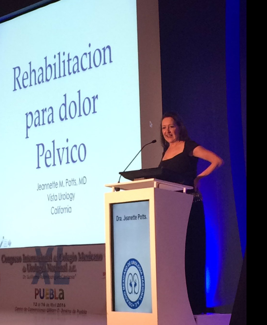 Dr Potts lecturing on Rehabilitation for Pelvic Pain