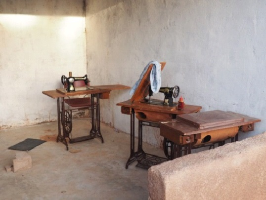 Skills training area for sewing